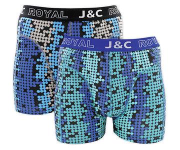 H234-30048 2-pack Heren Boxershort bol Blauw/Groen