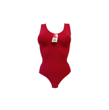 Dames body met breed bandje slipmodel Rood_