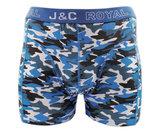 H235-30050 2-pack Heren Boxershort Camouflage Rood/Blauw_