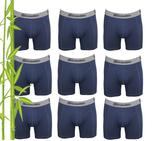 9-Pack Gionettic Bamboe Heren boxershorts Marine_