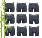 9-Pack Gionettic Bamboe Heren boxershorts Antraciet_