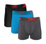 4485-20011 3-pack Heren boxershorts Zwart/Blauw/D Grijs_