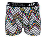 H224-30027 2-pack Heren Boxershort zigzag Paars/Zwart_