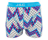 H224-30028 2-pack Heren Boxershort zigzag Rood/L Blauw_