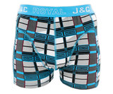 H223-30025 2-pack Heren Boxershort blokprint Groen/Marine _