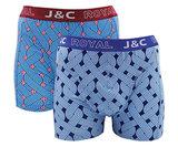 H231-30042 2-pack Heren Boxershort kabel J.Blauw/Marine _