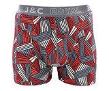 H233-30045 2-pack Heren Boxershort streep Rood/Geel _