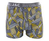 H233-30046 2-pack Heren Boxershort streep Blauw/Grijs _