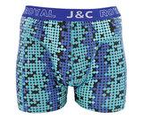 H234-30048 2-pack Heren Boxershort bol Blauw/Groen _