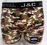 H235-30049 2-pack Heren Boxershort Camouflage Groen/Zand_