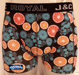 H237-30054 2-pack Heren Boxershort Limoentjes Peach/Lime_