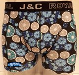 H237-30053 2-pack Heren Boxershort Limoentjes Petrol/Blauw_
