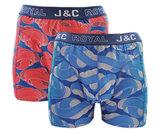 H236-30051 2-pack Heren Boxershort Rood/Blauw_
