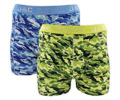 H226-30032 2-pack Heren Boxershort camouflage Blauw/Groen