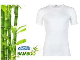 Bamboe heren T-shirt met korte mouw Wit