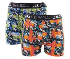 H238-30056 2-pack Heren Boxershort Groen/Oranje