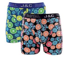 H237-30054 2-pack Heren Boxershort Limoentjes Peach/Lime