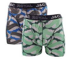 H236-30052 2-pack Heren Boxershort Zwart/Groen