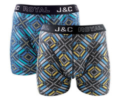 H242-30060 2-pack Heren Boxershort Gold/Aqua