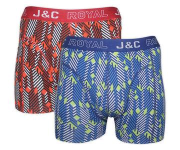 H220-30017 2-pack Heren Boxershort Marine/Rood