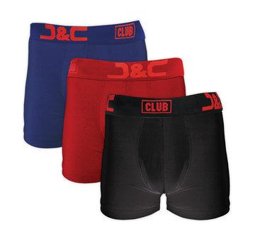 3-pack Heren Boxershort L.Blauw/Rood/Zwart