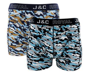 H226-30031 2-pack Heren Boxershort camouflage Marine/Zwart