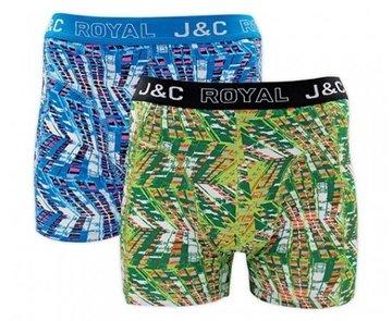 H229-30038 2-pack Heren Boxershort flat Blauw/Groen
