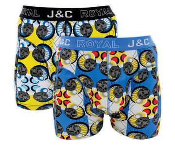 H222-30022 2-pack Heren Boxershort Geel/Blauw