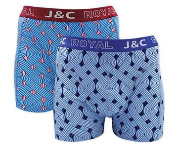 H231-30042 2-pack Heren Boxershort kabel J.Blauw/Marine