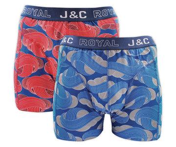 H236-30051 2-pack Heren Boxershort Rood/Blauw