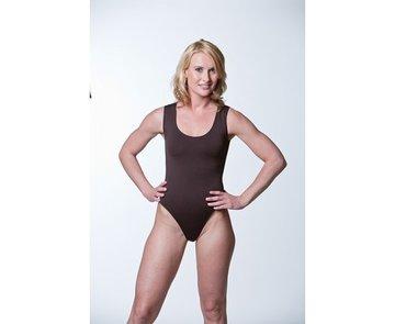 Dames body brede band stringmodel Zwart