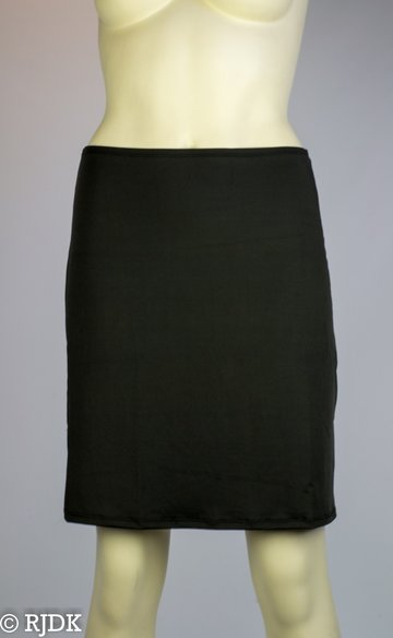 5568 Dames korte onderrok (50cm) Zwart