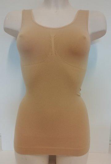 Dames hemd breed bandje corrigerend Huid