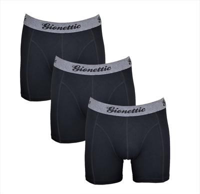 3-Pack Gionettic Modal Heren boxershorts Zwart