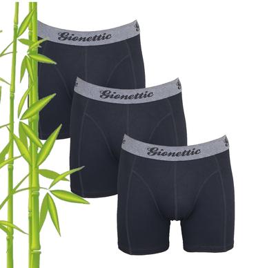 3-Pack Gionettic Bamboe Heren boxershorts Zwart