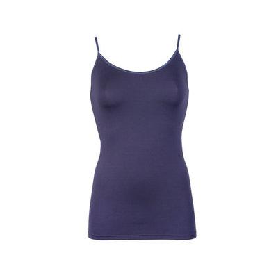 Dames hemd met spaghetti bandje Elegance blauw