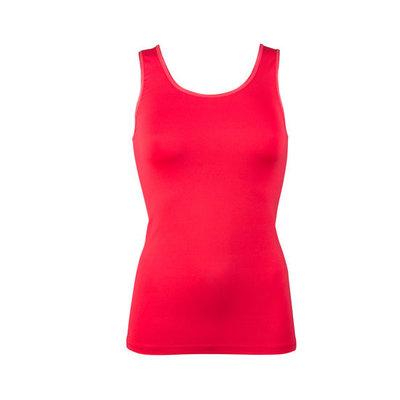 Dames hemd met breed bandje Elegance rood