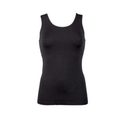 Dames hemd met breed bandje Elegance zwart