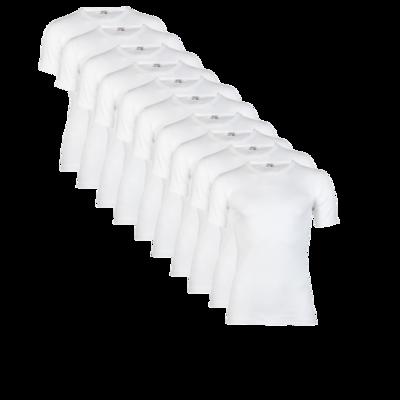 10 stuks Heren T-shirts met korte mouw Beeren wit