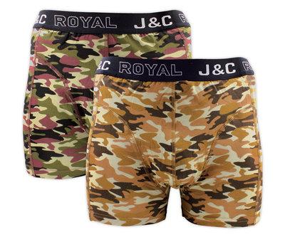 H235-30049 2-pack Heren Boxershort Camouflage Groen/Zand