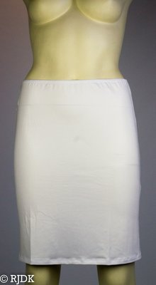 5568 Dames korte onderrok (50cm) Wit