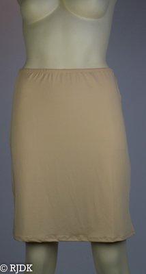 5568 Dames korte onderrok (50cm) Huid