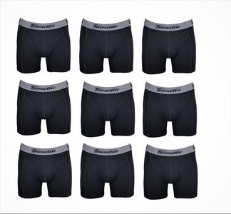 9-Pack Gionettic Modal Heren boxershorts Zwart