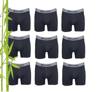 9-Pack Gionettic Bamboe Heren boxershorts Zwart