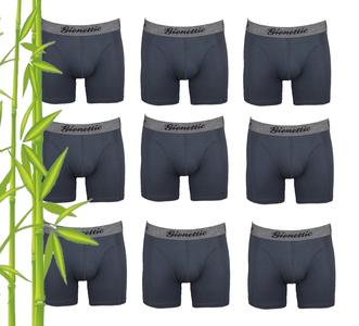 9-Pack Gionettic Bamboe Heren boxershorts Antraciet