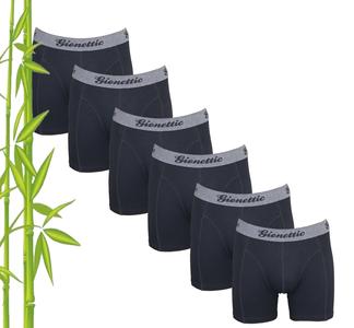 6-Pack Gionettic Bamboe Heren boxershorts Zwart