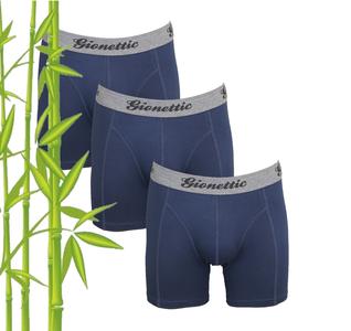 3-Pack Gionettic Bamboe Heren boxershorts Marine