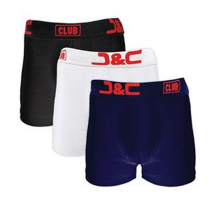 4485-20010 3-pack Heren boxershorts Zwart/Wit/Marine