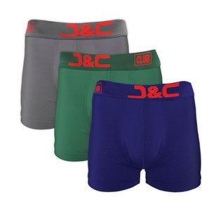 4485-20013 3-pack Heren boxershorts L.Grijs/Groen/Blauw