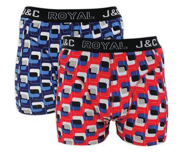 H216-30009 2-pack Heren Boxershort Blauw/Rood